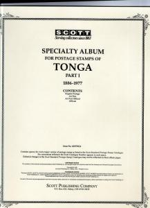 Scott Specialty Album pages for Tonga Part 1 used