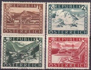 Austria #496-9   F-VF Unused  CV $54.35 (Z3002)