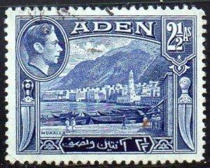 Aden 1939 2½a Mukalla used