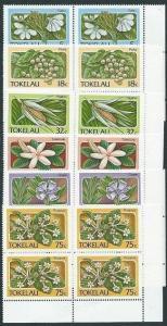 TOKELAU 1987 Flowers set in blocks of 4 MNH..............................41463