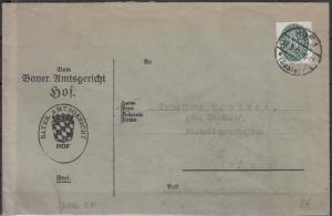 Germany - 17.3.1932 8pf official stamp as single franking on cover (5257)