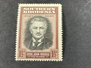 SOUTHERN RHODESIA # 58*(SG # 55a)-MINT NEVER/HINGED---RECUT COLLAR VAR.---1940