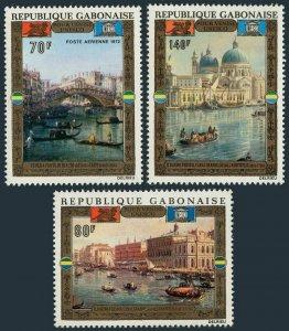 Gabon C123-125,MNH.Michel 456-458. UNESCO campaign Save Venice,1972.Painting