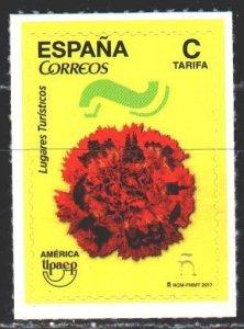 Spain. 2017. 5206. Tourism, upaep, carnation. MNH.