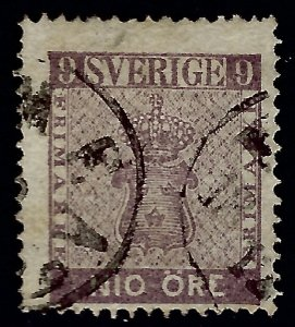 Sweden Attractive Sc#7 Used F-VF Cat $275.00...Sweden is Hot Now!