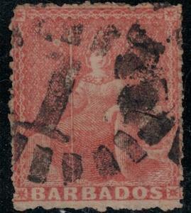 Barbados 1861 SC 17 Used SVC$ 78.00