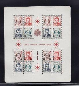 Monaco Scott # 291b sheet of 4 blocks VF OG mint scv $ 212 ! see pic !