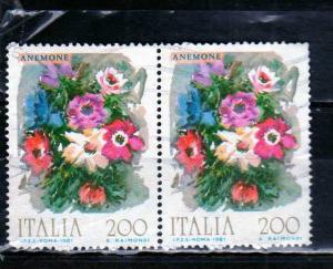 ITALIA REPUBBLICA ITALY REPUBLIC 1981 FLORA FIORI D´ITALIA FLOWERS FLEURS AN...