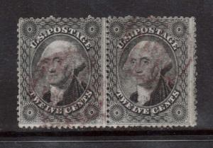 USA #36 Used Rare Pair With Magenta Cancels