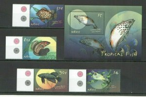 S1090 NEVIS FAUNA MARINE LIFE TROPICAL FISH 1BL+1SET FIX