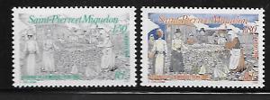 ST. PIERRE & MIQUELON 600-601 MNH DRYING CODFISH 1994