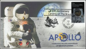 19-203, 2019, Moon Landing, Pictorial Postmark, Event Cover, Apollo 11, Columbia