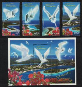 Vanuatu Birds 4v+MS SG#1039-MS1043 SALE BELOW FACE VALUE