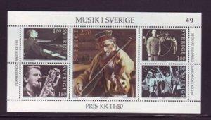 Sweden 1473 1983 Swedish Musicians stamp sheet mint NH