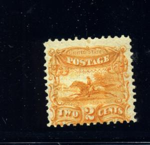 Scott 113-E3f Post Rider Orange Essay Double Grill w/PF Cert (Stock #113-E1)