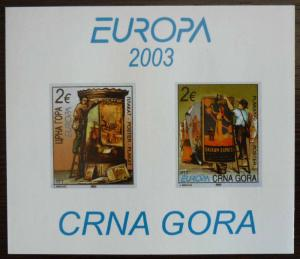MONTENEGRO - BLOCK 2003 - MNH - PRIVATE ISSUE! crna gora yugoslavia J3