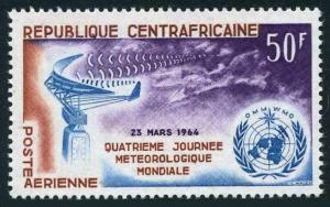 Central Africa C18,MNH.Michel 56. World Meteorological Day 1964.