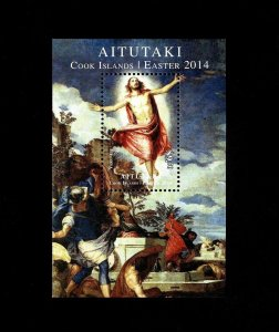 AITUTAKI - 2014 - EASTER - RESURRECTION OF CHRIST - VERONESE - MINT MNH S/SHEET!