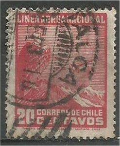 CHILE, 1931  used 20c ,Andes Scott C24