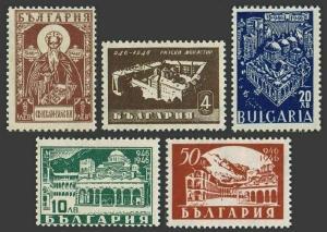 Bulgaria 529-533,hinged.Michel 559-562. Rila Monastery-1000,1946.St Ivan Rilski.