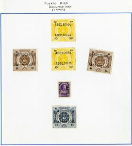 Puerto Rico stamps 7x Documentary Stamps Early rare