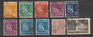 #163-4,166,169,171-2,174,296,219B,312 Finland Used