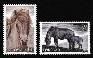 Faroe Is. Horses 2v SG#243-244 SC#254-255