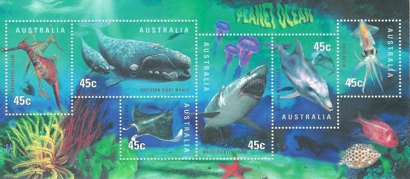 Australia 1707a   SS Mint NH VF  1998  PD