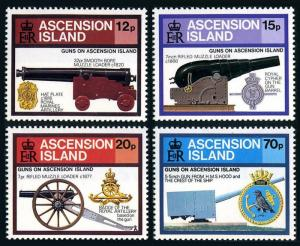 Ascension MNH 368-71 Canons Artillery 1985