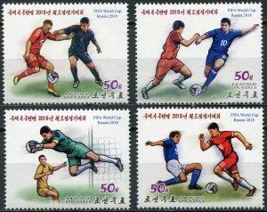 Korea 2018. Russia 2018 World Cup Football (MNH OG) Set of 4 stamps
