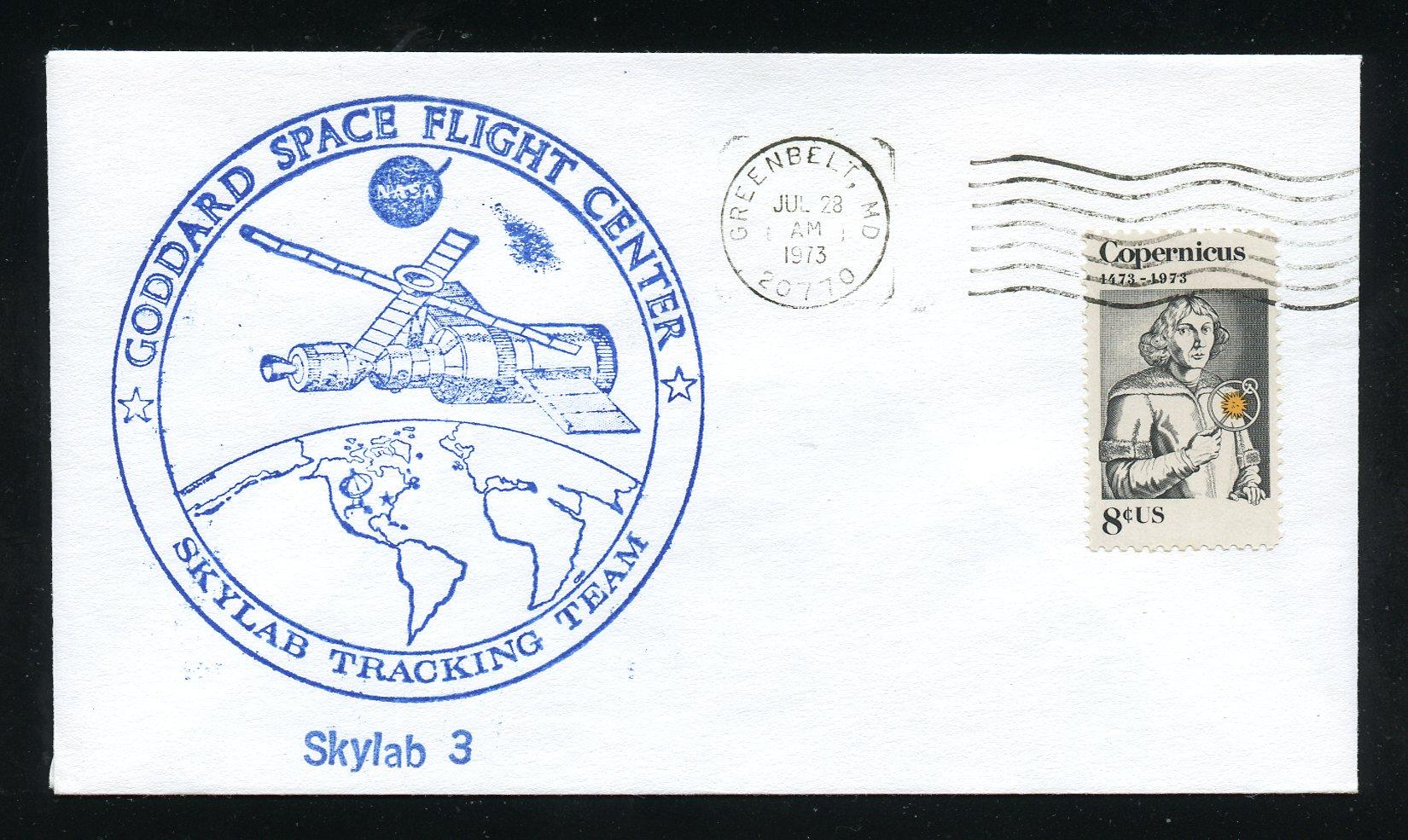 Skylab 3- Launch Day - 7/28/73 UA Envelope / HipStamp