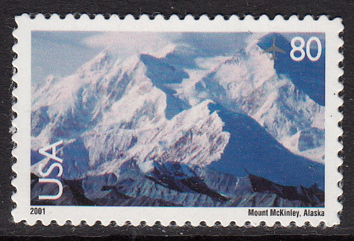 United States Air Post #C137 Mt. McKinley, Please see description.