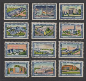 USA - 1939 New York World's Fair Lot  of 12 MH Stamps Assortment 6