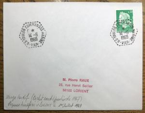FRANCE 1969 CàD Agence Postale Navale 83-TOULON COMMANDOS MARINE - VAR - /LSC