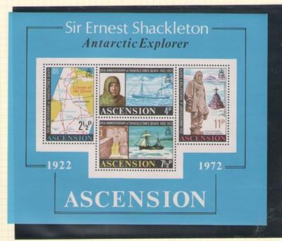 Ascension Sc 163a 1972 Shackleton stamp sheet mint NH