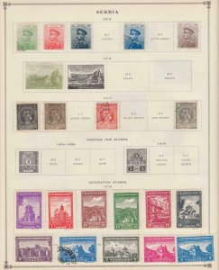 SERBIA INTERESTING  COLLECTION ON ALBUM PAGES  Z538