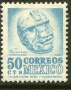 MEXICO 881, 50c 1950 Def 4th Issue Fluorescent unglazed. MINT, NH. F-VF.