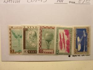 LATVIA Lettland Scott CB9-CB13  MINT HINGED  LotL  Cat $87.50