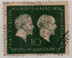 Germany Used #722 Paul Ehrlichland Emil von Behring
