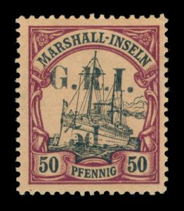 German Colonies - NEW BRITAIN G.R.I. Marshall Is 5d/50pf purple Sc#37 mint MH VF