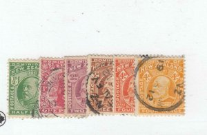 NEW ZEALAND # 130-135 VF-USED KEV11 ISSUES CAT VALUE $50+