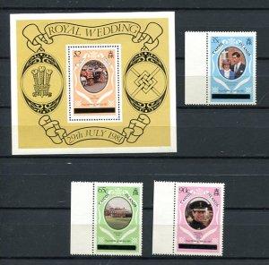 Royalty Caicos Island Souvenir Sheet+Stamps MNH 8301
