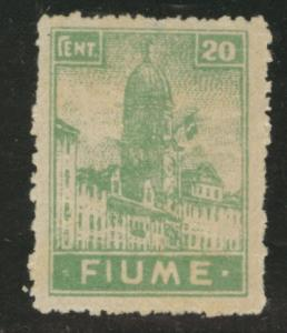 FIUME Scott 32 Mint No Gum 1919 20c thinned paper CV$3