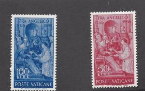 Vatican, 195-96, Fra Anelico - Painter Singles, **MNH**