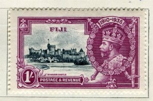 FIJI; 1935 early GV Silver Jubilee issue Mint hinged 1s. value