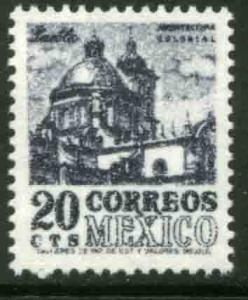 MEXICO 1054, 20c 1950 Def 7th Issue Fluorescent printing. MINT, NH. F-VF.