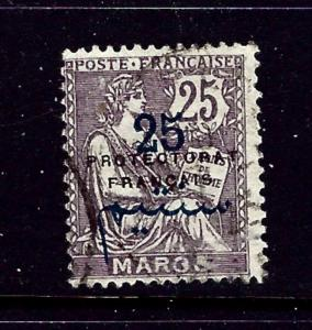 French Morocco 46 Used 1921 surcharge