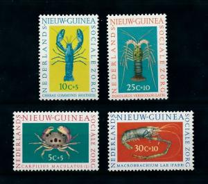 [99581] Netherlands New Guinea 1962 Marine Life Crabs  MNH