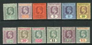 STRAITS SETTLEMENTS-1902-3  A mounted mint set to $5 Sg 110-121