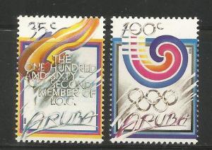 ARUBA  38-39 MINT HINGED,  ARUBA, OLYMPICS